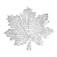 Juharlevél alakú tányéralátét, ezüst - FEUILLE PRECIEUSE