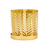 Fém mécsestartó, 7,5 cm, arany - MANTILLE