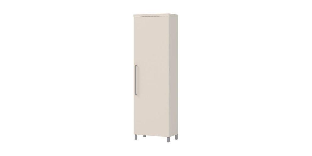 Egyajtós szekrény 3 polccal és akasztós résszel - ROYAL LYS
