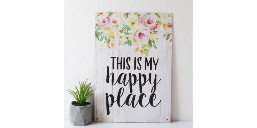 Táblakép - HAPPY PLACE