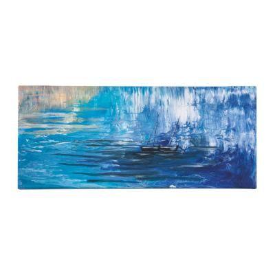 Vászon kép, 30x70, hajó a tengeren, kék - MAREE