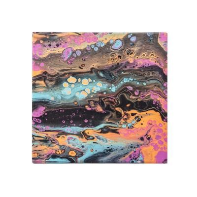 Vászon kép,40x40, csurgatott absztrakt, színes   - COSMOS