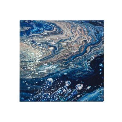 Vászon falikép, 40x40, absztrakt hullámok, kék - GALAXY