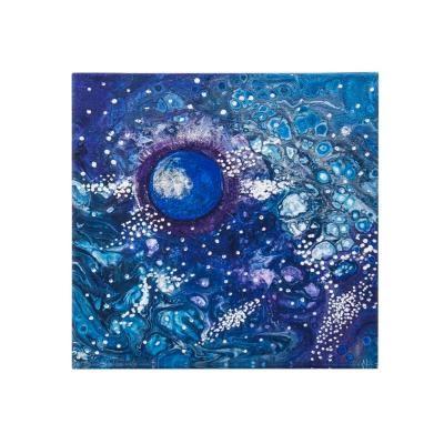 Vászon kép,40x40,absztrakt, kék - PLANETE