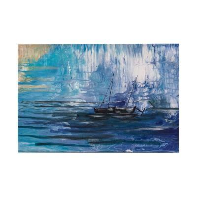 Vászon kép, 40x59, hajó a tengeren, kék - MAREE