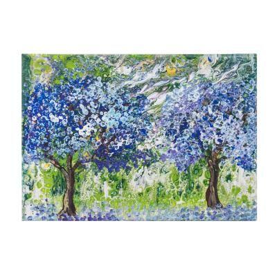 Vászon kép, 50x70, tájkép virágzó fákkal - AVRIL