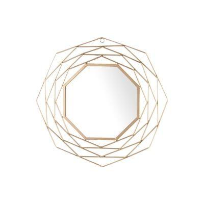 Nyolcszög formájú falitükör, 57 cm, arany - NID D'ABEILLE