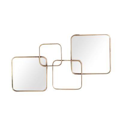Fémkeretes osztott tükör, 70x41 cm - CUBISME