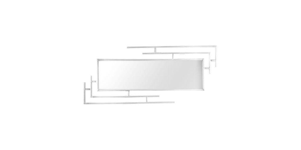 Fémkeretes tükör, 80x35 cm - ART DECO
