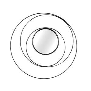 Kör alakú fali tükör, fekete - NEPTUNE