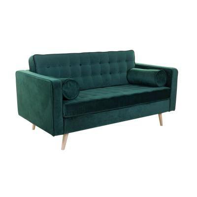 2 személyes bársony kanapé, sötétzöld - WINDSOR