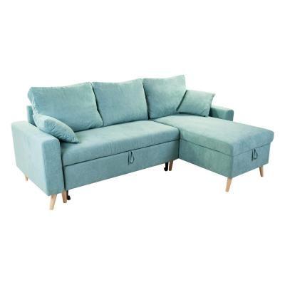 Kinyitható kanapé, megfordítható L alakkal, menta - COPENHAGUE