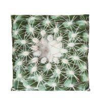 Kaktusz mintás díszpárna, 35x35 cm, zöld-fehér - ARIZONA
