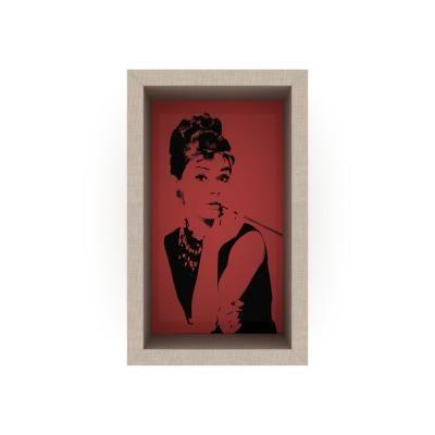 Pop art stílusú falipolc, 22x36 cm, piros - AUDREY