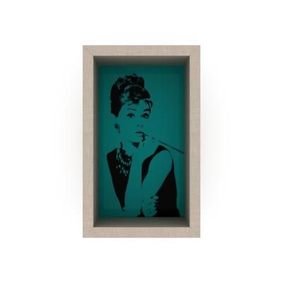 Pop art stílusú falipolc, 22x36 cm, türkiz - AUDREY