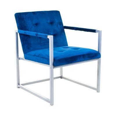Fotel fém vázzal, kék - KIPLING