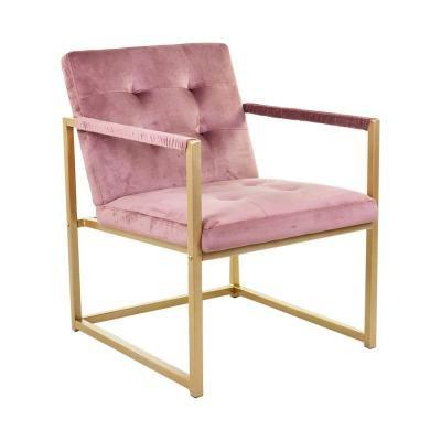 Fotel fém vázzal, púderrózsaszín - KIPLING