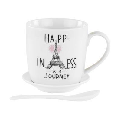 Bögre tányérral és kanállal, happiness - PARIS