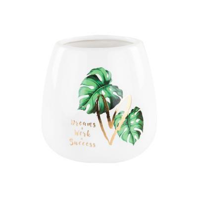 Dzsungel mintás váza, 12 cm - MONSTERA