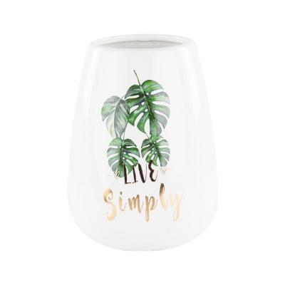 Dzsungel mintás váza, 18 cm - MONSTERA
