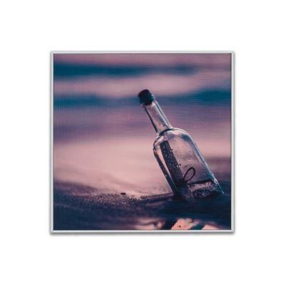 Falikép 30x30 cm, palack - MESSAGE IN THE BOTTLE