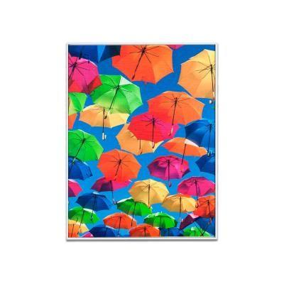 Falikép 30x40 cm, esernyők - PLUIE DE JOIE