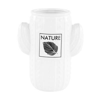 Kaktusz formájú váza 18 cm, fehér - CACTUS