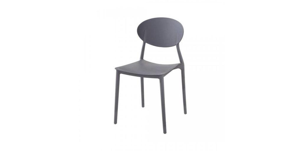 Műanyag rakásolható szék, szürke - COMPASS