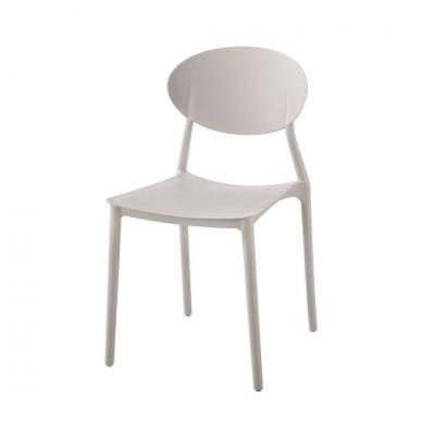 Műanyag rakásolható szék, szürkésbarna - COMPASS