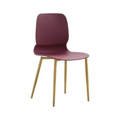 Modern műanyag szék, bordó - SCARABE