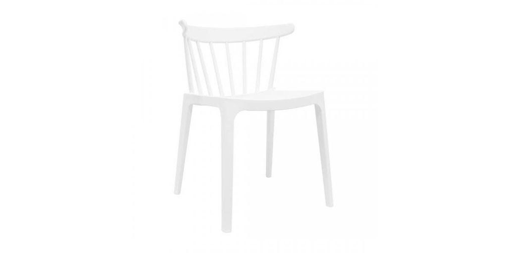 Modern műanyag szék, fehér - SPECTRE