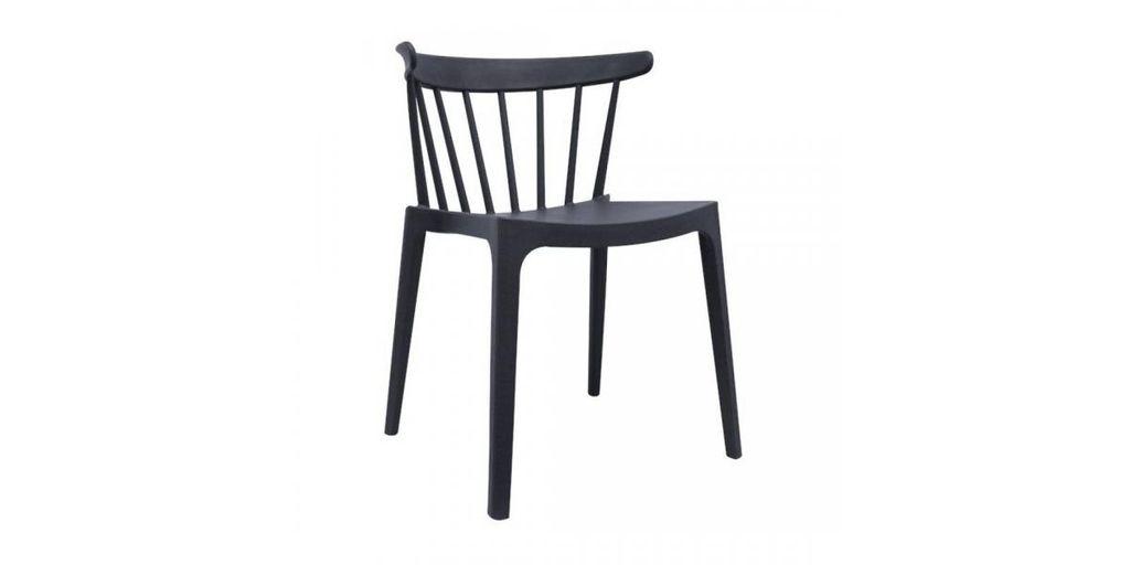 Modern műanyag szék, antracit - SPECTRE