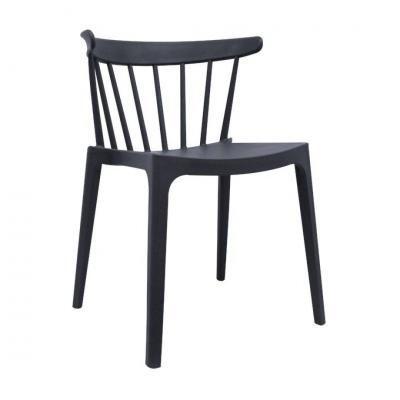 Modern műanyag szék, sötétszürke - SPECTRE