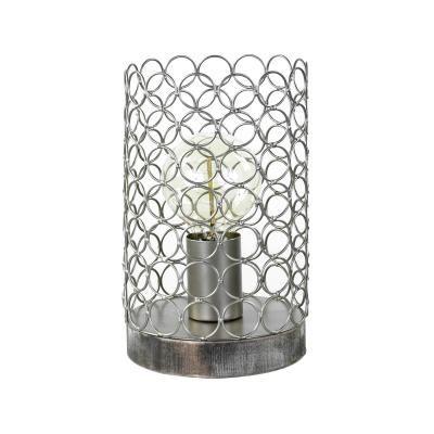 Asztali lámpa 24 cm, ezüst - TOILE