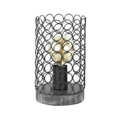 Asztali lámpa 24 cm, szürke - TOILE