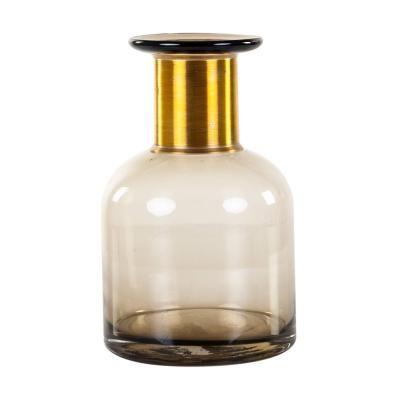 Üveg váza, sötét füstbarna - CLOCHETTE