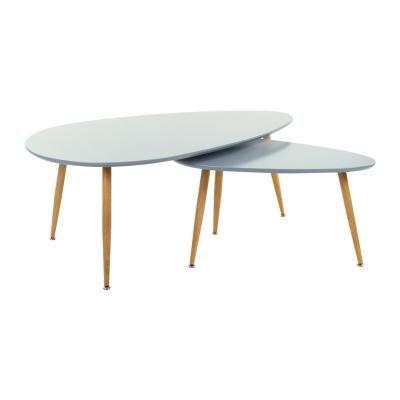 Asztalka szett, 2 db, szürke - STONE