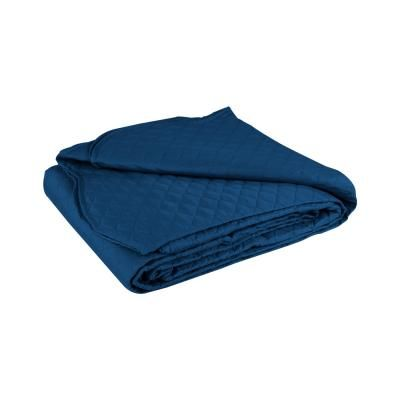 Ágytakaró, steppelt, 240x260 cm, kék - PLAINE