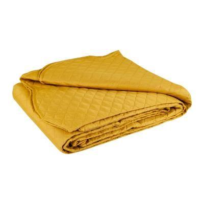 Ágytakaró, steppelt, 240x260 cm, sárga - PLAINE