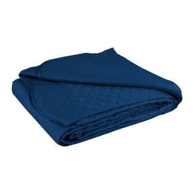 Ágytakaró, steppelt, 150x200 cm, kék - PLAINE