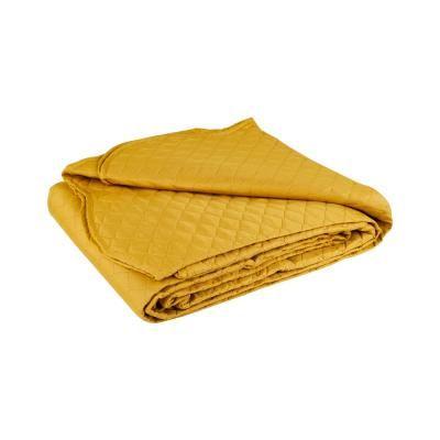 Ágytakaró, steppelt, 150x200 cm, sárga - PLAINE