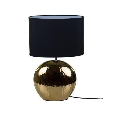 Asztali lámpa, arany vázzal, fekete - POMME