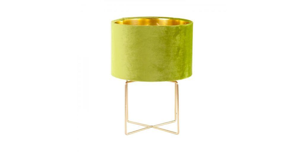Bársony asztali lámpa, zöld - MIKO