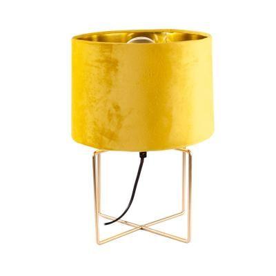 Bársony asztali lámpa, mustársárga - MIKO