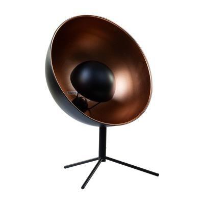 Retro asztali lámpa, félgömb, arany-fekete  - BUG