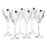 Csavart kristály pezsgős pohár szett, 6 db, 17 ml, átlátszó - TCHIN TCHIN