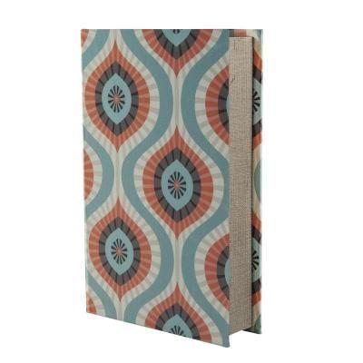 Selyem könyvdoboz, 26 cm - PASTEL ARABESQUE