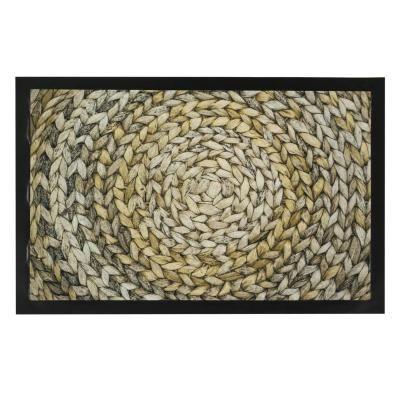 Lábtörlő 40x60 cm szövött mintával - PELOTE DE CRIN