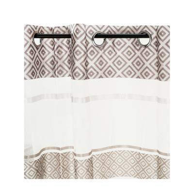 Függöny csíkos mintával, 240x140 cm, fehér-bézs - GRAPHITE