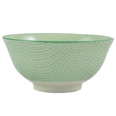 Tál zöld mintával 15,5 cm - KIWI